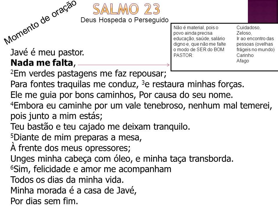 Momento de oração – Salmo 23 Em relação ao Pastor, Jesus: 1.Realmente tenho sido seu/sua discípula.