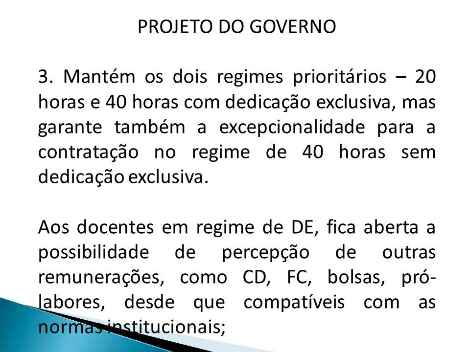 PROJETO DO GOVERNO 4.