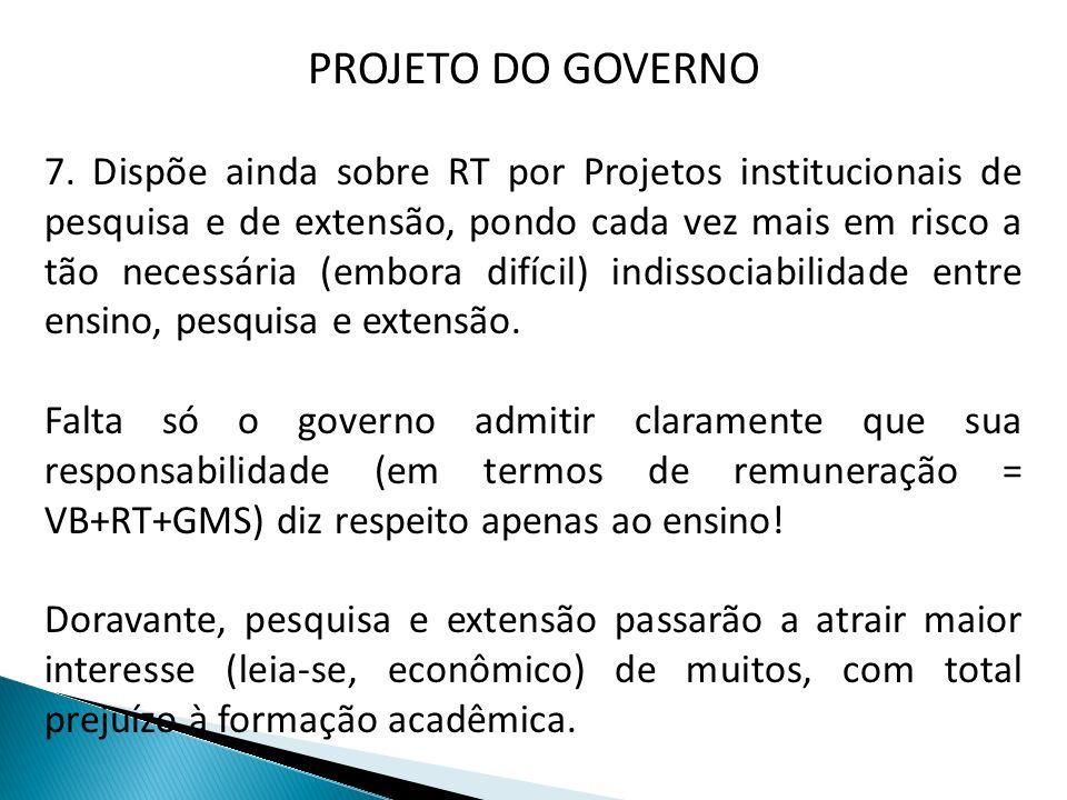 PROJETO DO GOVERNO 8.