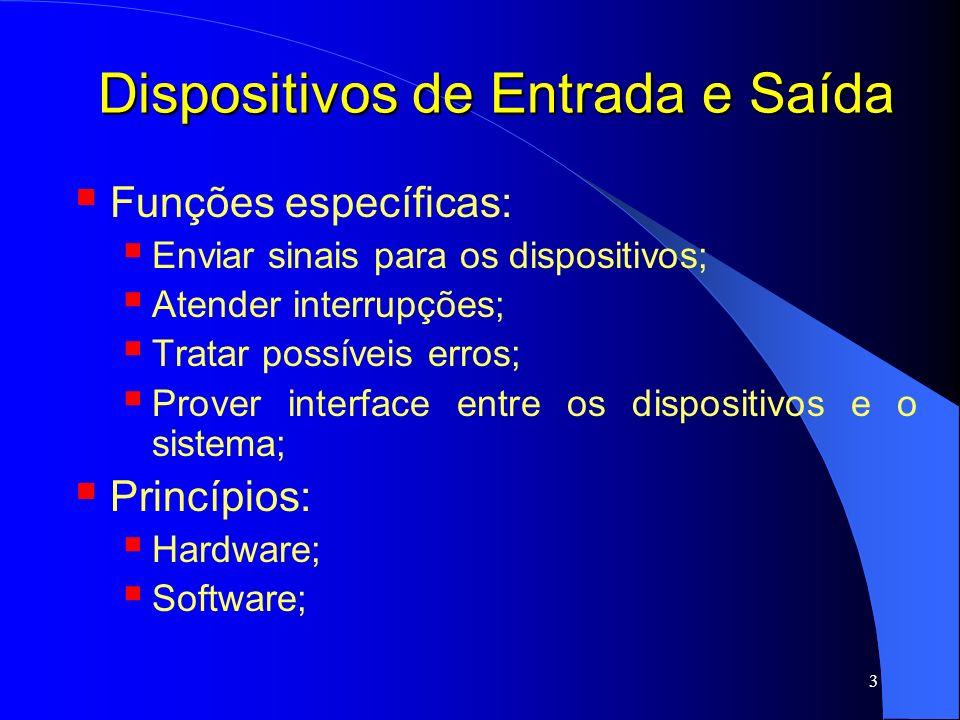 34 Dispositivos de E/S Princípios de Hardware Tratando uma interrupção: 1.
