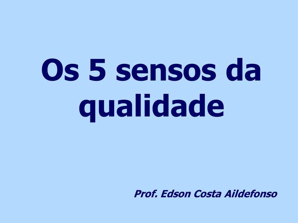 Os 5 sensos da qualidade Prof. Edson Costa Aildefonso