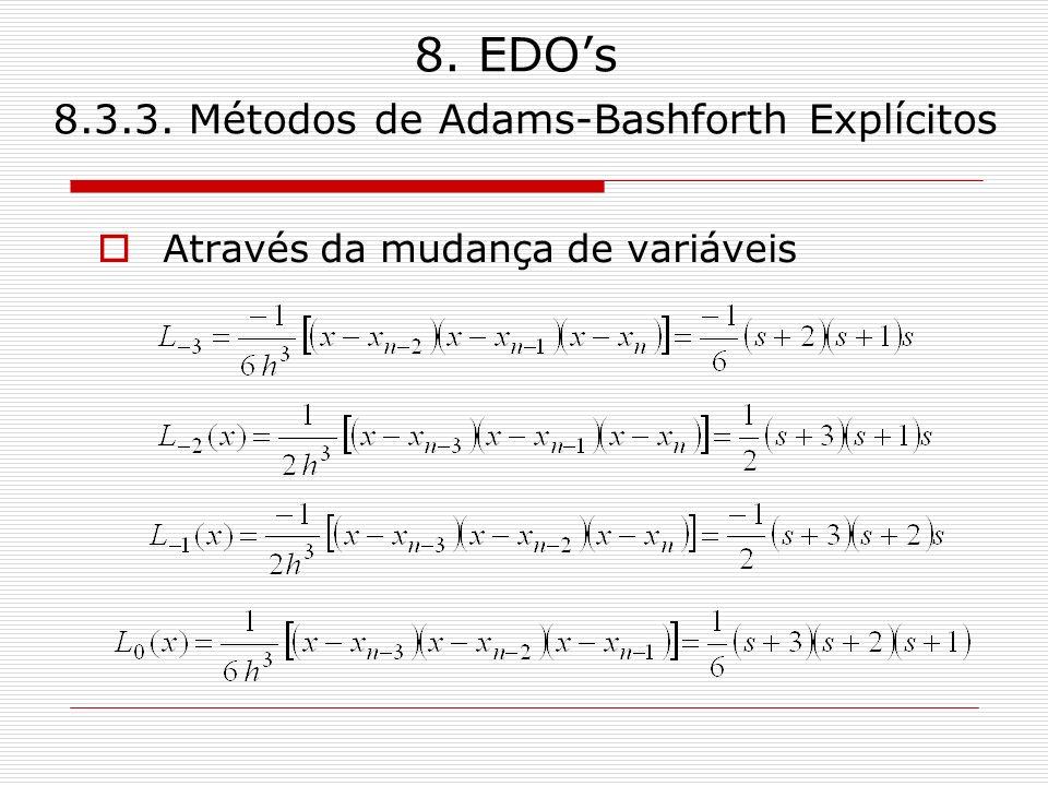 8. EDOs 8.3.3. Métodos de Adams-Bashforth Explícitos Enfim,