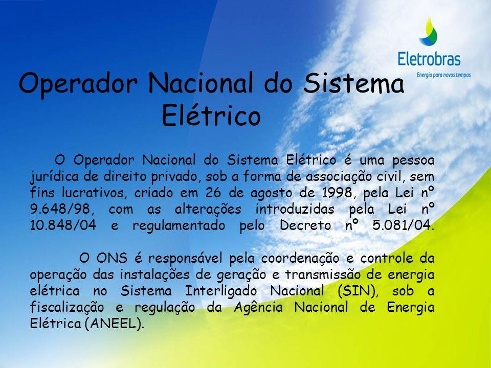 Operador Nacional do Sistema Elétrico O Operador Nacional do Sistema Elétrico é uma pessoa jurídica de direito privado, sob a forma de associação civi