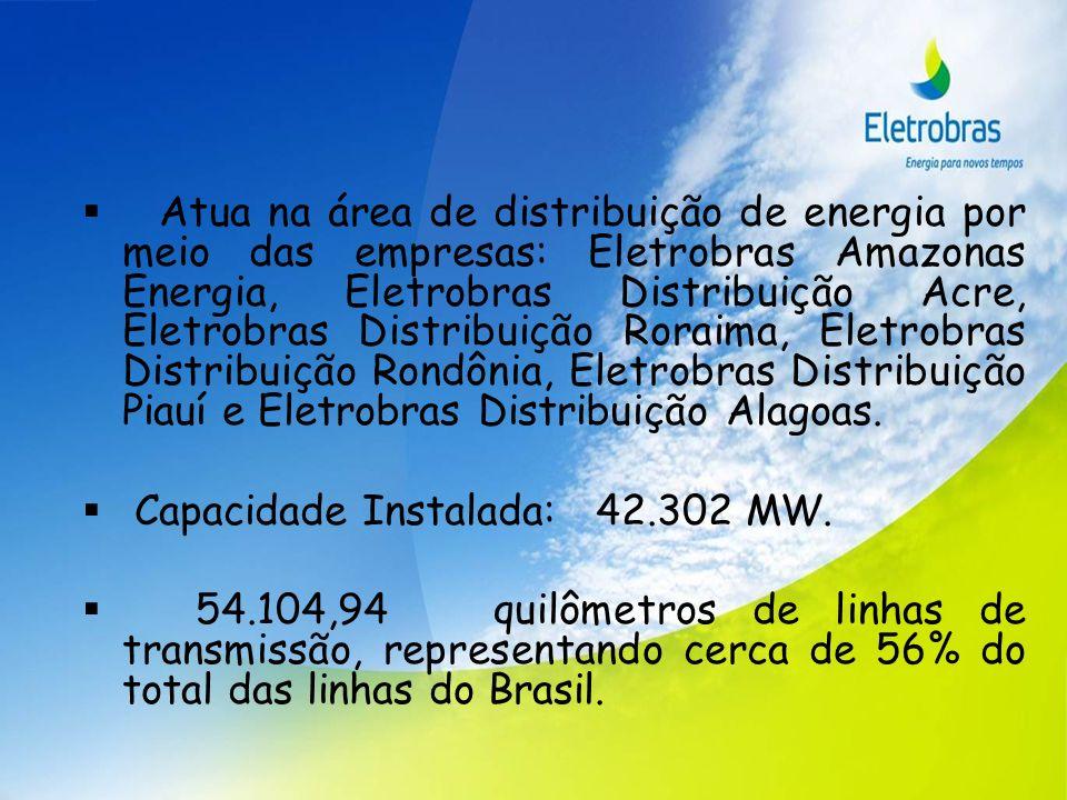 Atua na área de distribuição de energia por meio das empresas: Eletrobras Amazonas Energia, Eletrobras Distribuição Acre, Eletrobras Distribuição Rora