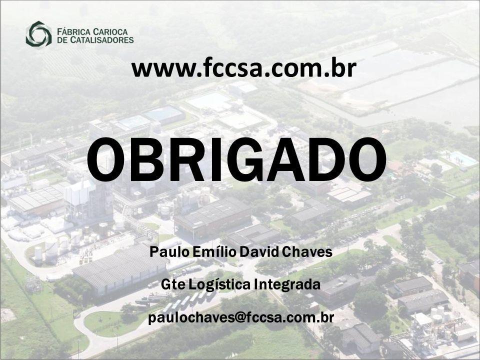 www.fccsa.com.br Paulo Emílio David Chaves Gte Logística Integrada paulochaves@fccsa.com.br OBRIGADO