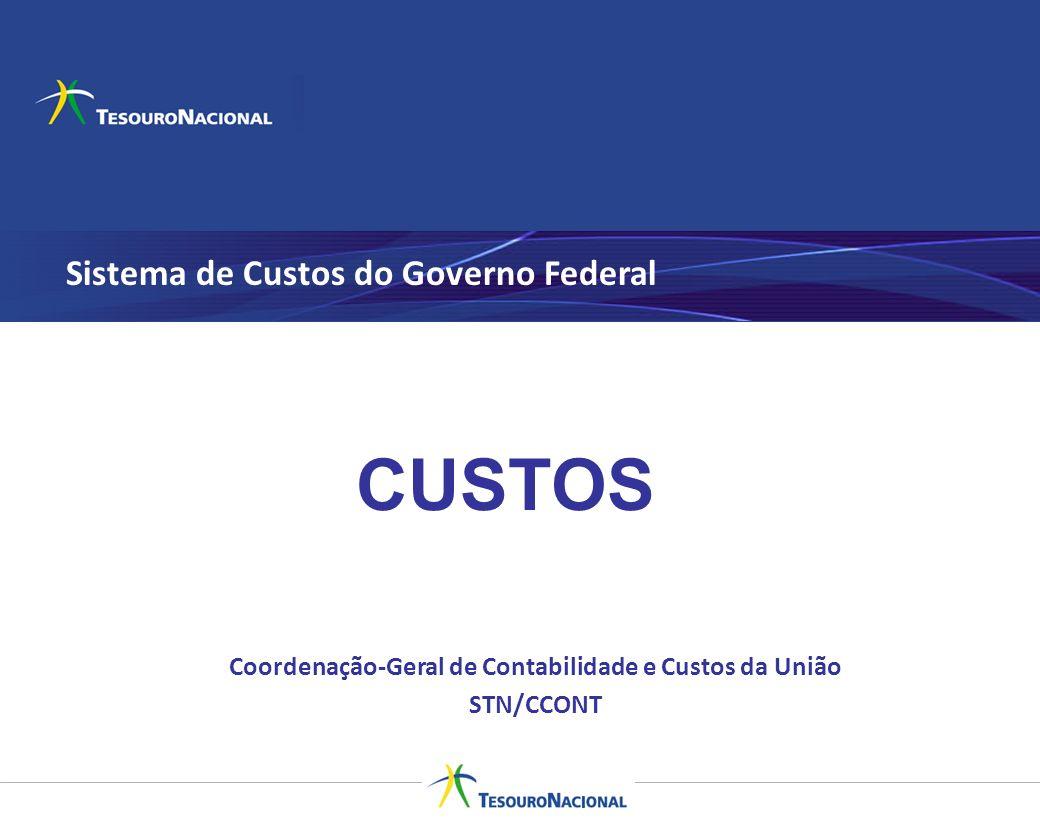 Sistema de Custos do Governo Federal Coordenação-Geral de Contabilidade e Custos da União STN/CCONT CUSTOS