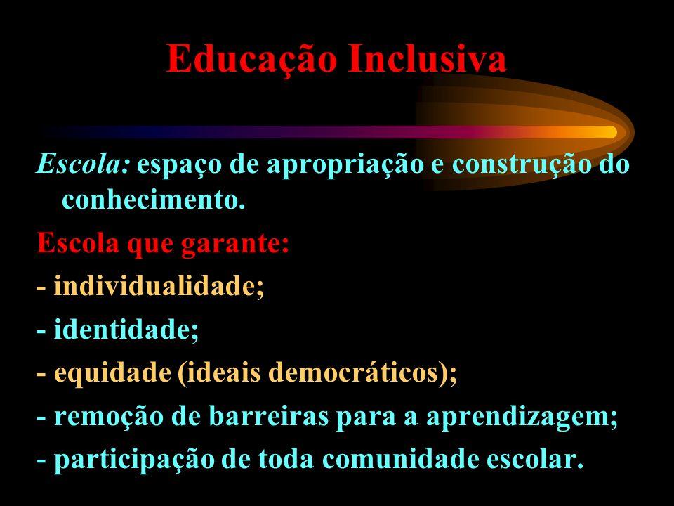 Princípio fundamental da escola inclusiva A escola deve reconhecer e responder às necessidades diversas de seus alunos e assegur uma educação de qualidade, pois todas as crianças devem aprender juntas sempre que possível, independentemente de quaisquer dificuldades ou diferenças que elas possam ter