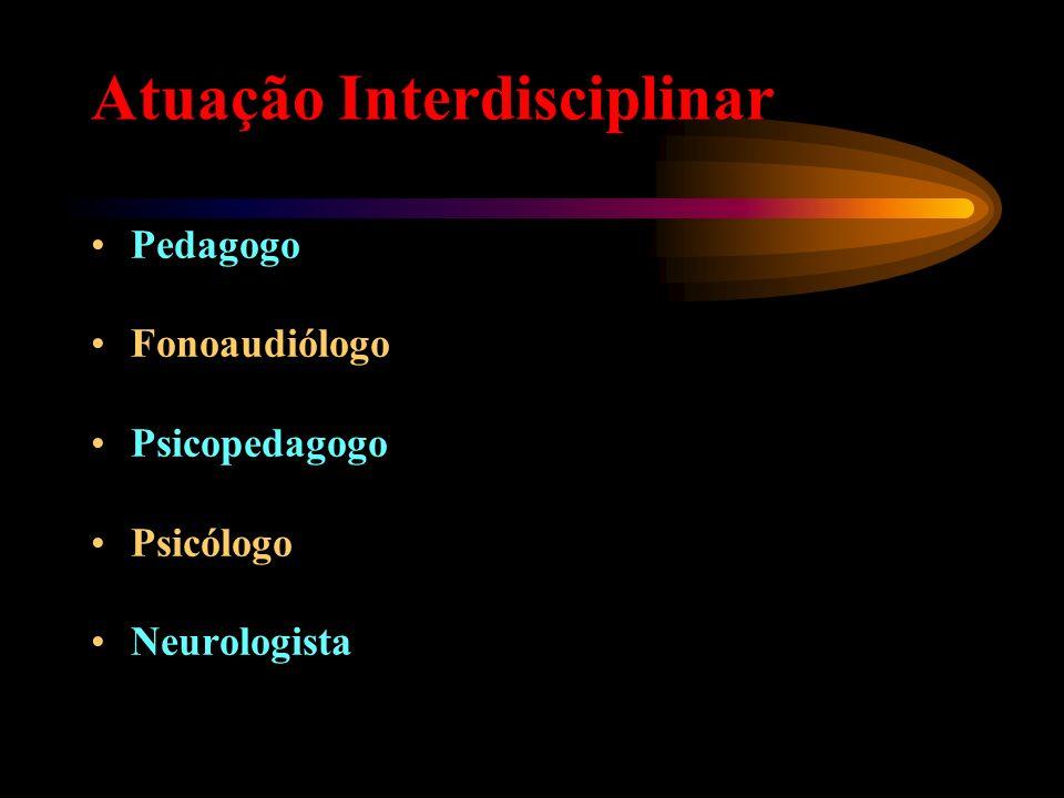 Atuação Interdisciplinar Pedagogo Fonoaudiólogo Psicopedagogo Psicólogo Neurologista