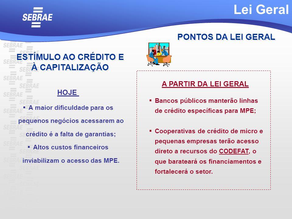 A maior dificuldade para os pequenos negócios acessarem ao crédito é a falta de garantias; Altos custos financeiros inviabilizam o acesso das MPE. Ban