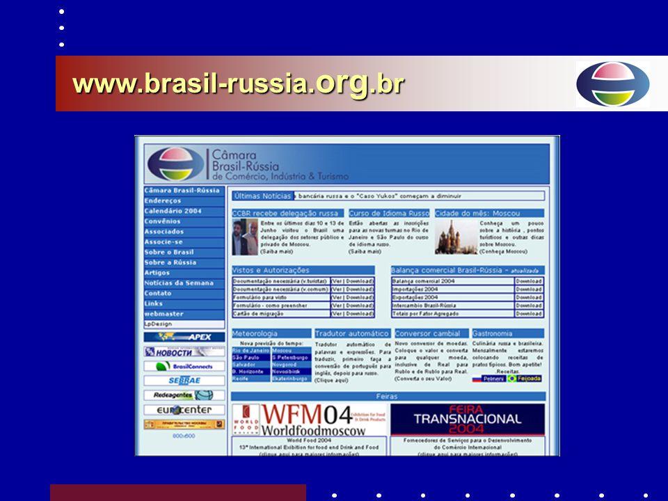–Agência de Notícias RIA-Novosti (janeiro/2003) –Prefeitura de Moscou (fevereiro/2003) –APEX (001/03) (missão do Ministro Furlan à Rússia – maio/2003)