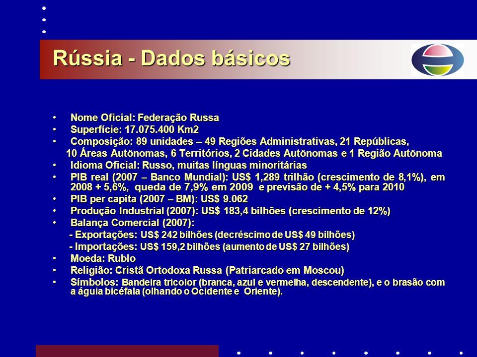 Câmara Brasil-Rússia Câmara Brasil-Rússia de Comércio, Indústria & Turismo BRASIL e RÚSSIA BRASIL e RÚSSIA Uma Parceria Estratégica Tendências de Impo