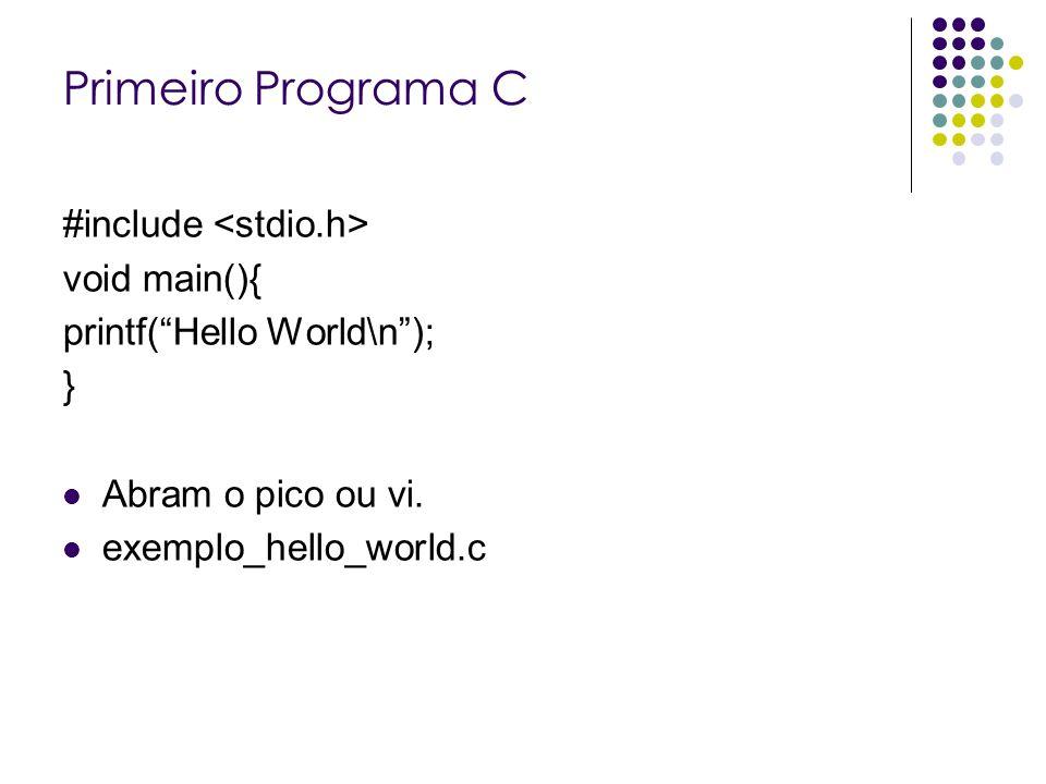 O método main O método main é o ponto de execução de uma aplicação c++.