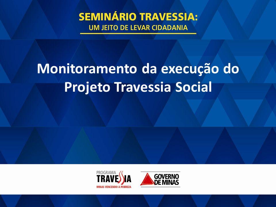 GOVERNO DE MINAS PROJETO TRAVESSIA SOCIAL Monitoramento da execução do Projeto Travessia Social