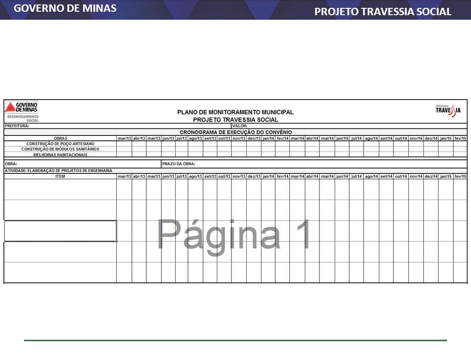 GOVERNO DE MINAS PROJETO TRAVESSIA SOCIAL