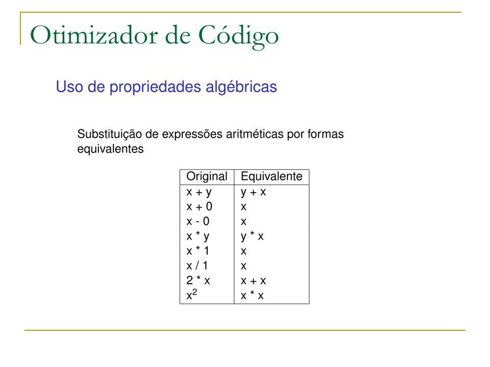Outro exemplo de otimização é a retirada de comandos de laço de repetição (um loop).