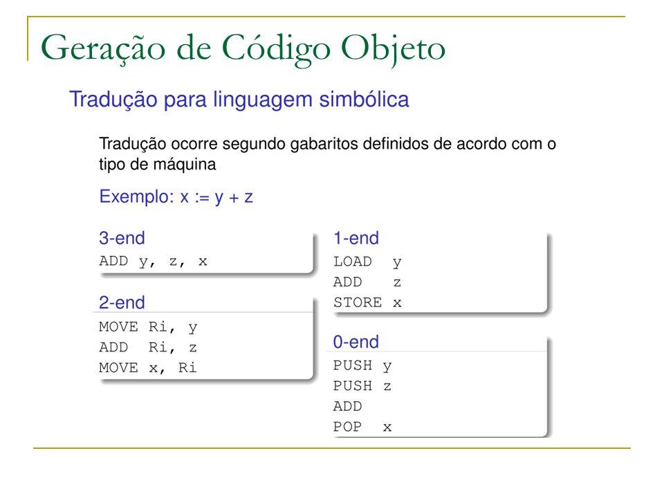 O resultado da compilação é um arquivo em linguagem simbólica Montagem Processo em que o programa em linguagem simbólica é transformado em formato binário, em código de máquina.