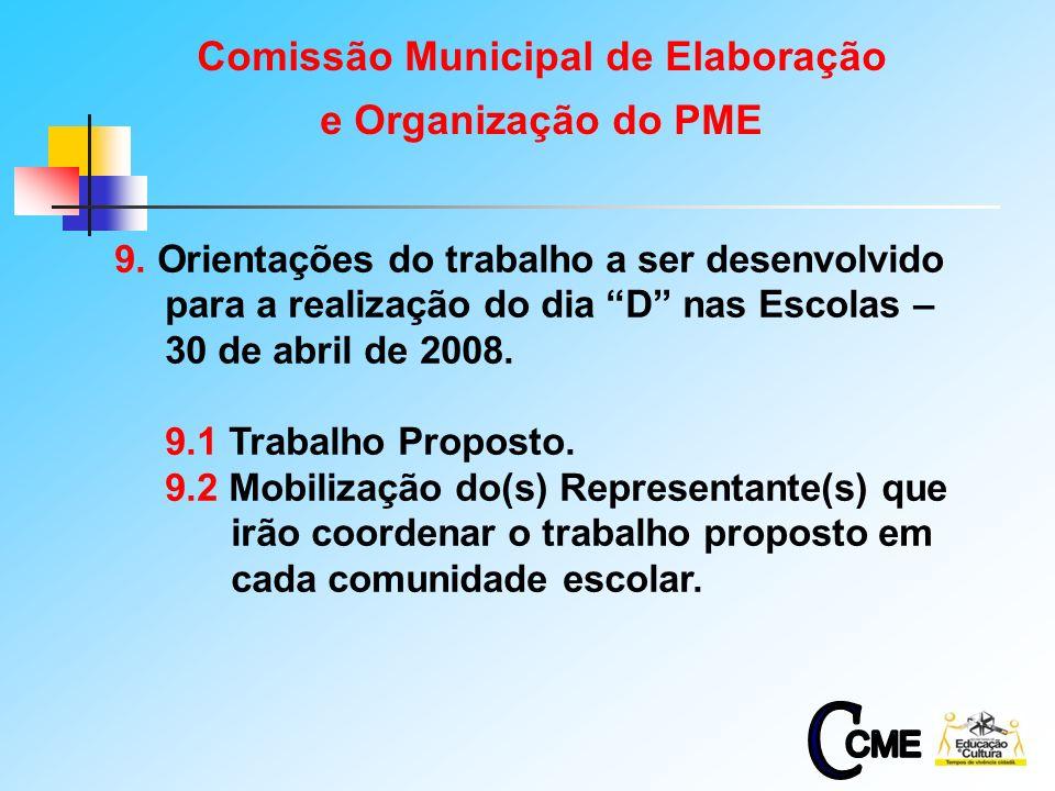 12 9. Orientações do trabalho a ser desenvolvido para a realização do dia D nas Escolas – 30 de abril de 2008. 9.1 Trabalho Proposto. 9.2 Mobilização