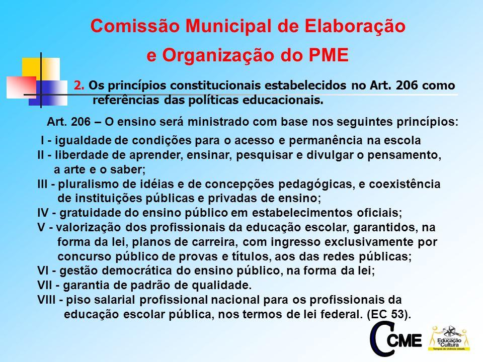3 Art. 206 – O ensino será ministrado com base nos seguintes princípios: I - igualdade de condições para o acesso e permanência na escola II - liberda