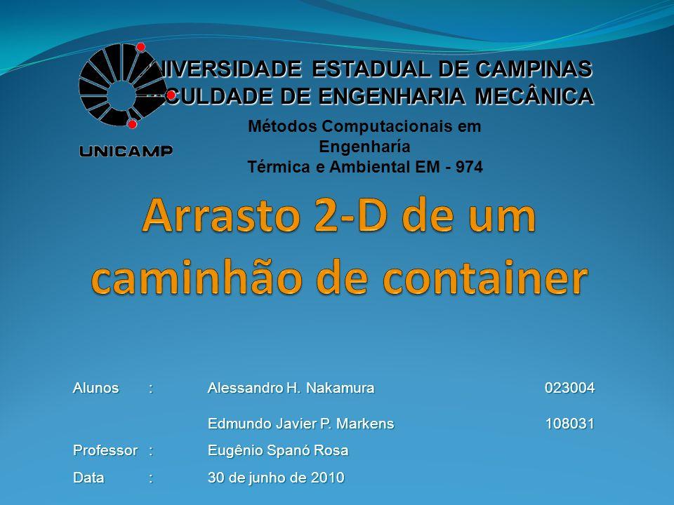 UNIVERSIDADE ESTADUAL DE CAMPINAS FACULDADE DE ENGENHARIA MECÂNICA Métodos Computacionais em Engenharía Térmica e Ambiental EM - 974 Alunos : Alessand