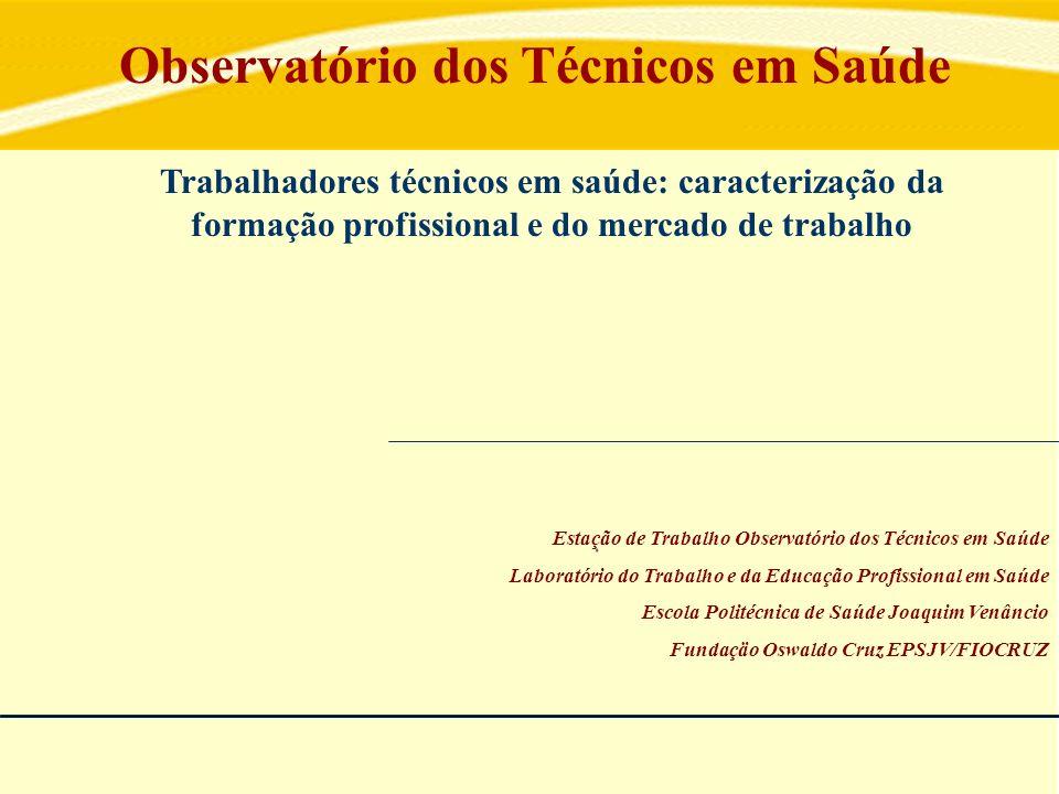 Estação de Trabalho Observatório dos Técnicos em Saúde Laboratório do Trabalho e da Educação Profissional em Saúde Escola Politécnica de Saúde Joaquim