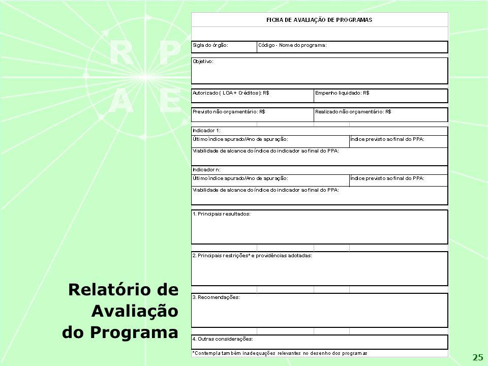 25 Relatório de Avaliação do Programa