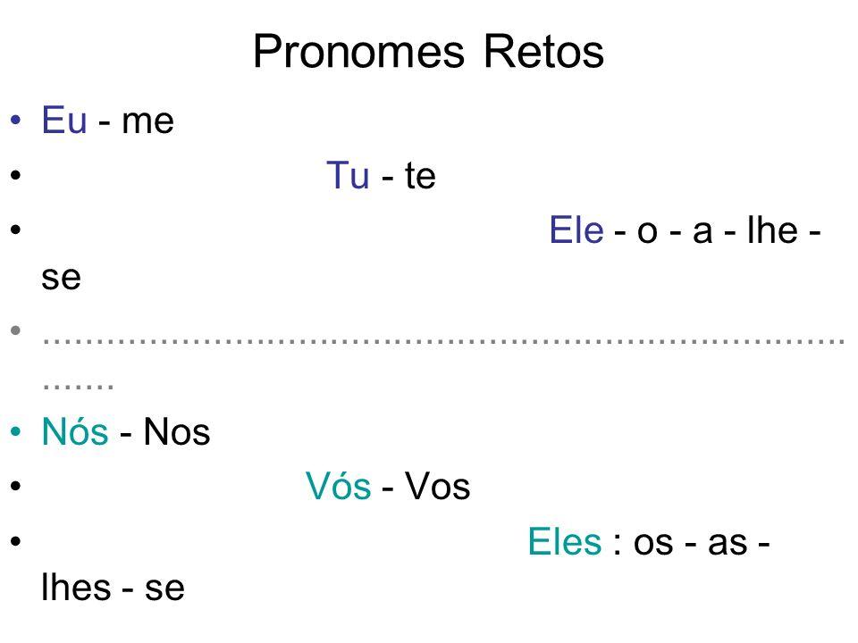 Eu vou me vingar.O pronome oblíquo ME refere-se ao pronome do caso reto EU.