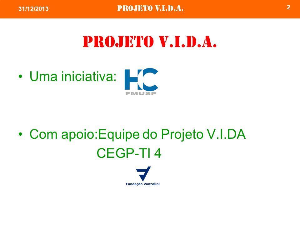 2 Projeto V.I.D.A. Uma iniciativa: Com apoio:Equipe do Projeto V.I.DA CEGP-TI 4