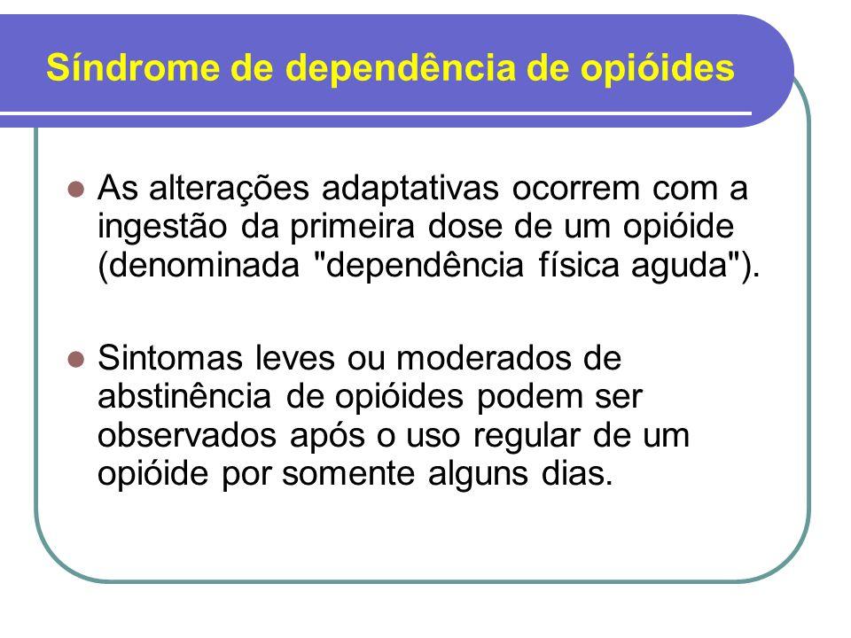 Enfoques farmacológicos na dependência de opióides Abstinência supervisionada: Isso pode variar tanto pela duração do tratamento quanto pelo tipo de medicações utilizadas (terapias de substituição x tratamentos sintomáticos).