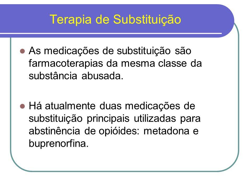 Metadona É a medicação mais comumente utilizada para o tratamento de abstinência de opióides.