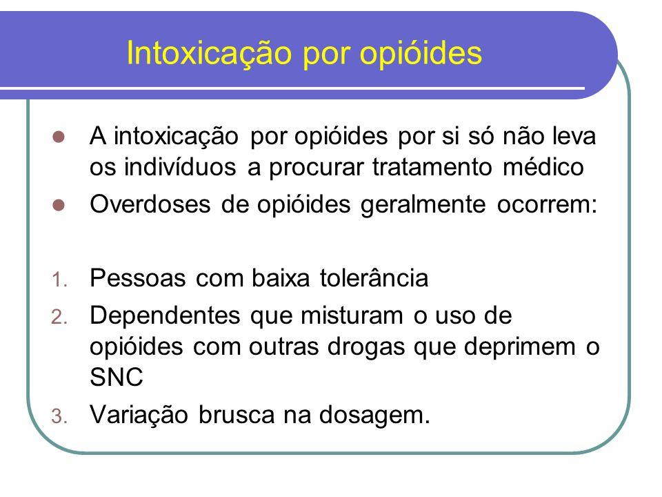 Manejo da Overdose de Opióides Estabelecimento de um suporte ventilatório adequado; Correção da hipotensão; Manejo de edema pulmonar (relacionado ao vazamento nos capilares pulmonares e não à sobrecarga de fluido).
