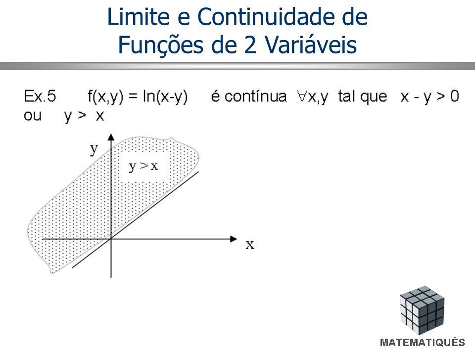 Regra dos Dois Caminhos Então, façamos, (x,y) tender para (0,0), pelo eixo x e pela reta y = x (dois caminhos).
