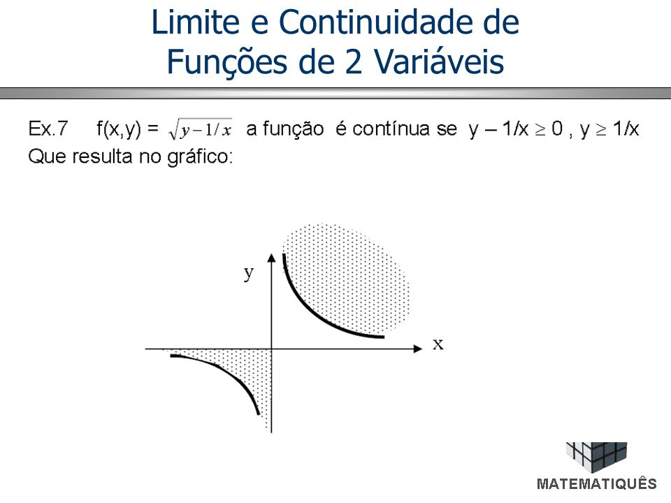 Limite O conceito de limite de funções ordinárias pode ser estendido para funções de várias variáveis.