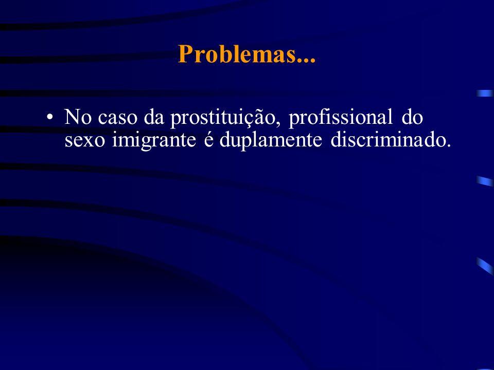 Problemas... No caso da prostituição, profissional do sexo imigrante é duplamente discriminado.