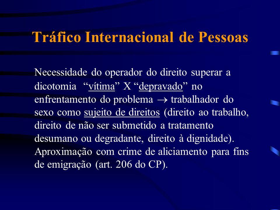 Tráfico Internacional de Pessoas Necessidade do operador do direito superar a dicotomia vítima X depravado no enfrentamento do problema trabalhador do