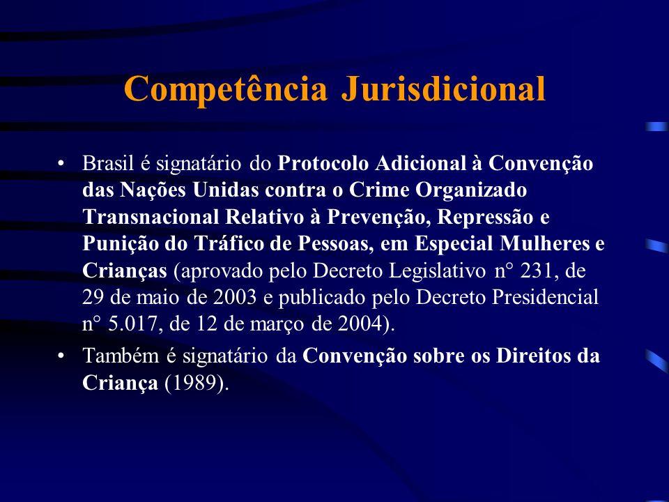 Competência Jurisdicional Brasil é signatário do Protocolo Adicional à Convenção das Nações Unidas contra o Crime Organizado Transnacional Relativo à