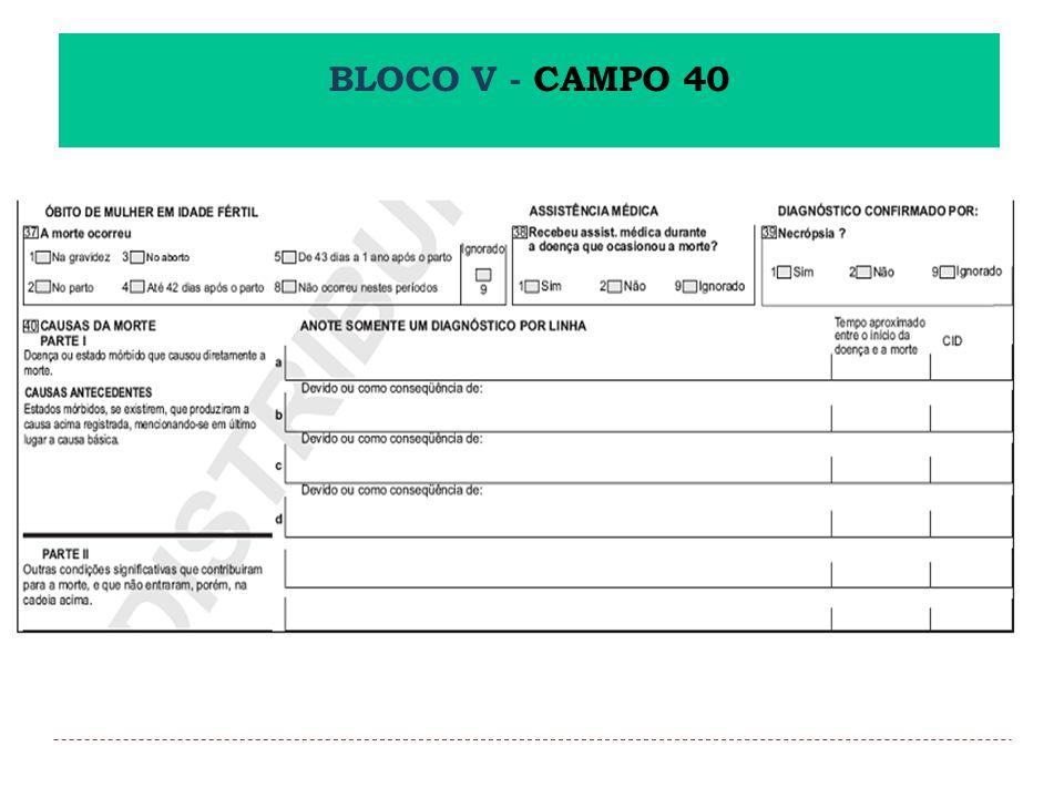BLOCO V - CAMPO 40