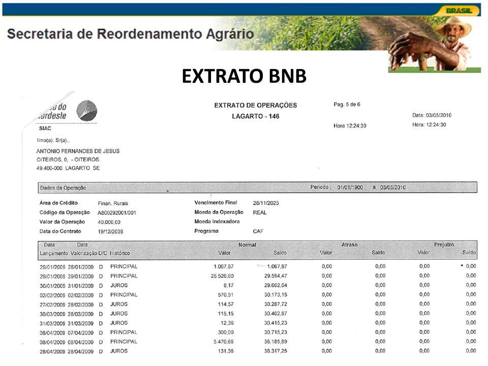 EXTRATO BNB