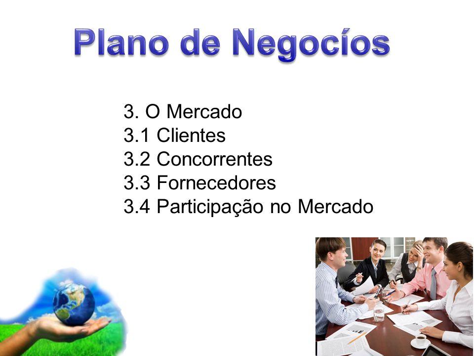 Page 5 3. O Mercado 3.1 Clientes 3.2 Concorrentes 3.3 Fornecedores 3.4 Participação no Mercado
