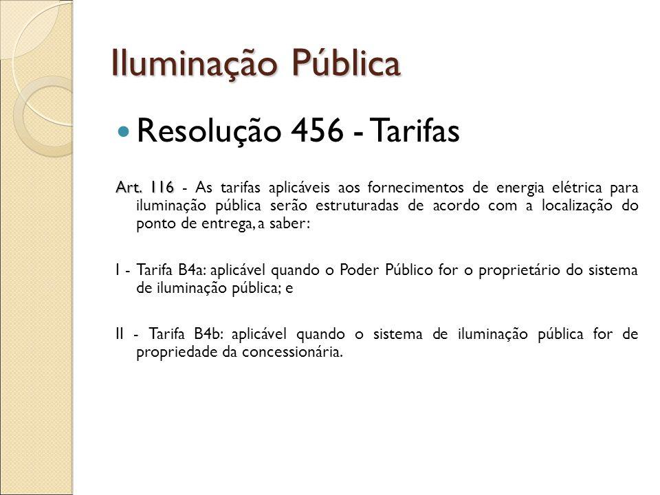 Iluminação Pública Resolução 456 - responsabilidades Art.