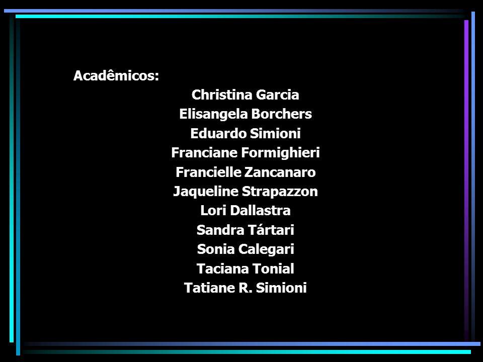 Acadêmicos: Christina Garcia Elisangela Borchers Eduardo Simioni Franciane Formighieri Francielle Zancanaro Jaqueline Strapazzon Lori Dallastra Sandra
