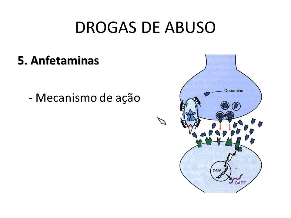 5. Anfetaminas - Mecanismo de ação DROGAS DE ABUSO