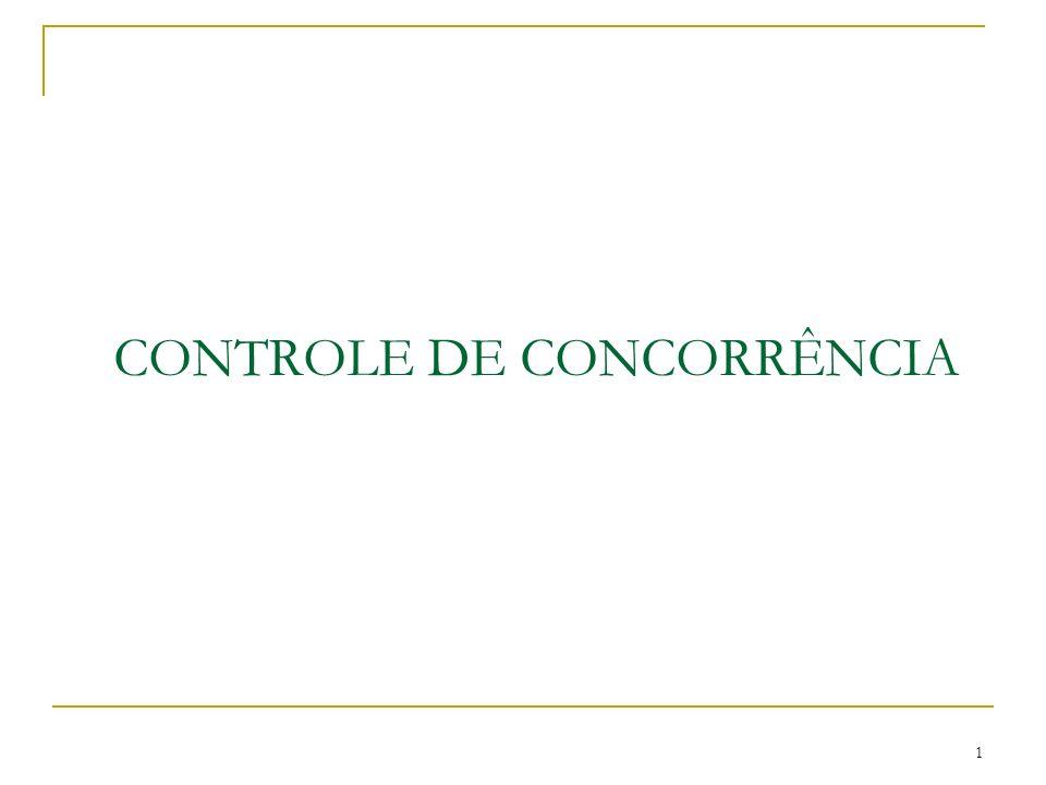 1 CONTROLE DE CONCORRÊNCIA