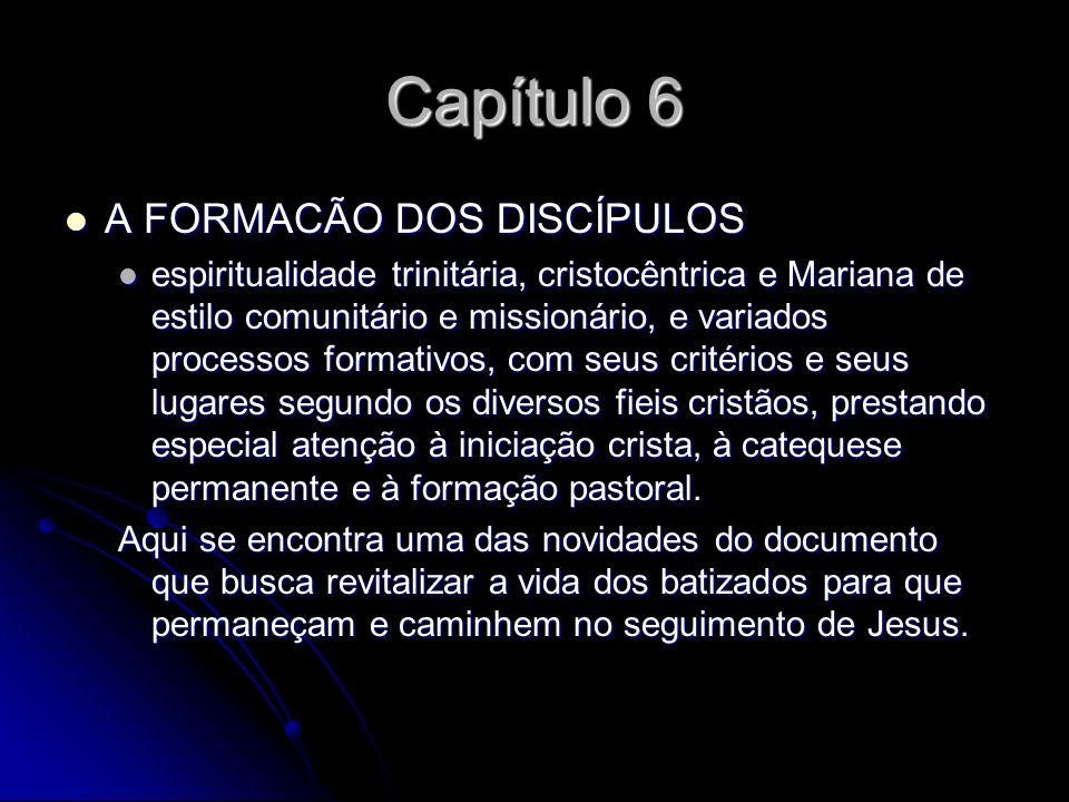 Capítulo 6 A FORMACÃO DOS DISCÍPULOS A FORMACÃO DOS DISCÍPULOS espiritualidade trinitária, cristocêntrica e Mariana de estilo comunitário e missionári