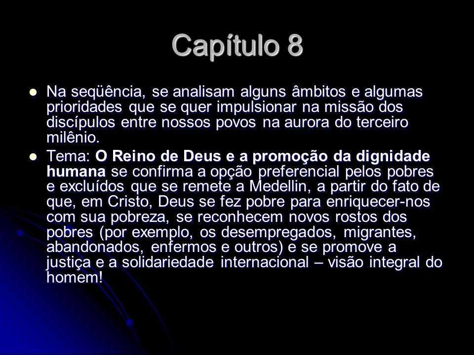 Capítulo 8 Na seqüência, se analisam alguns âmbitos e algumas prioridades que se quer impulsionar na missão dos discípulos entre nossos povos na auror