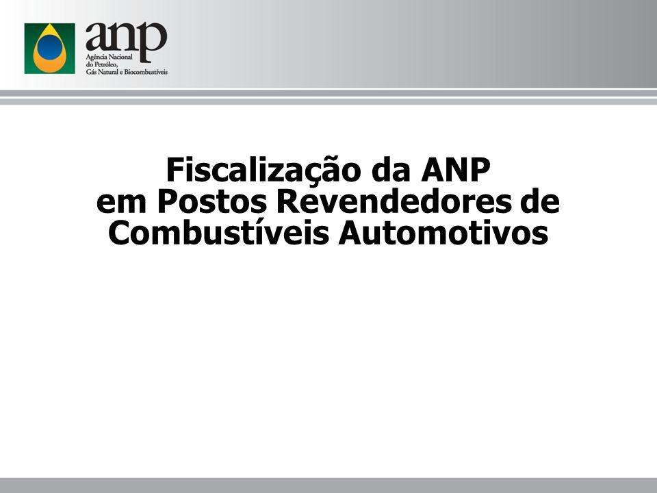 Fiscalização da ANP em Postos Revendedores de Combustíveis Automotivos