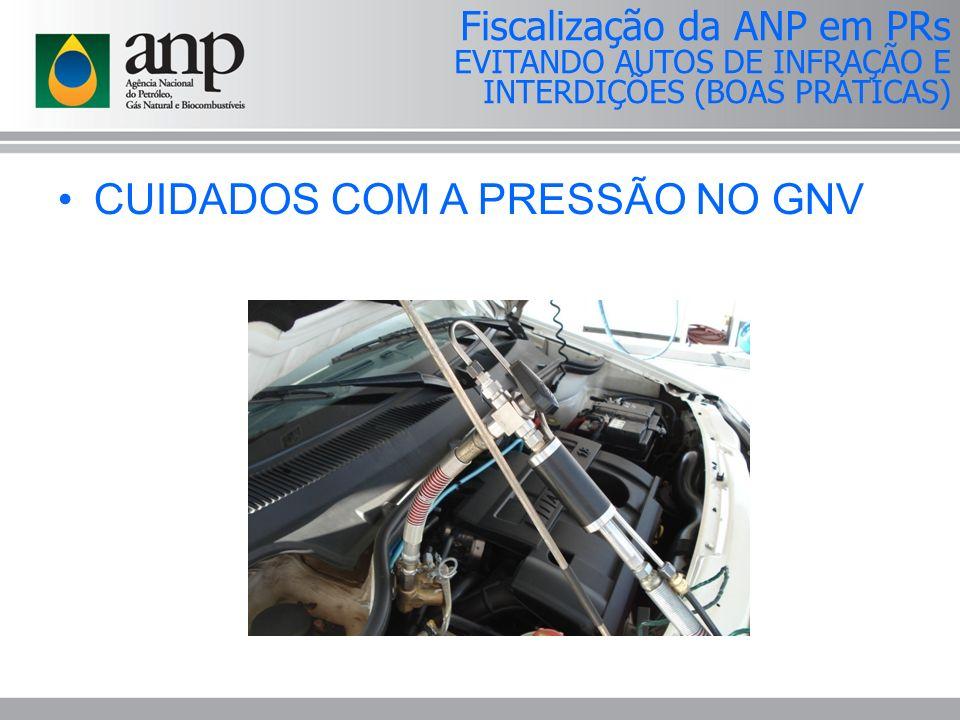 CUIDADOS COM A PRESSÃO NO GNV Fiscalização da ANP em PRs EVITANDO AUTOS DE INFRAÇÃO E INTERDIÇÕES (BOAS PRÁTICAS)