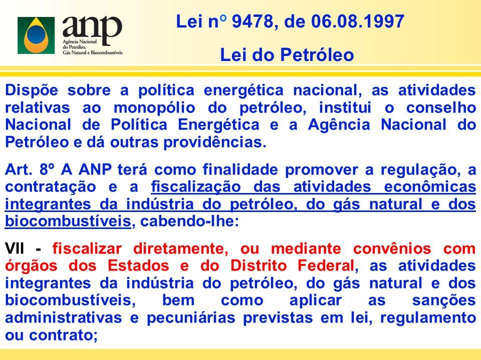 Dispõe sobre a política energética nacional, as atividades relativas ao monopólio do petróleo, institui o conselho Nacional de Política Energética e a