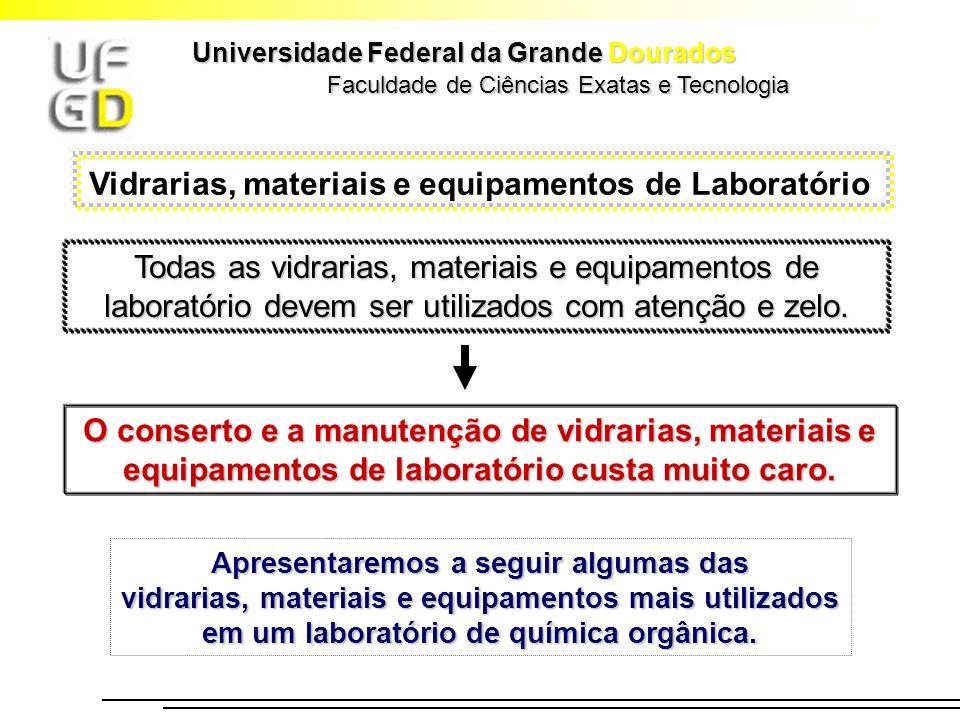 Faculdade de Ciências Exatas e Tecnologia Universidade Federal da Grande Dourados Vidrarias, materiais e equipamentos de Laboratório Todas as vidraria