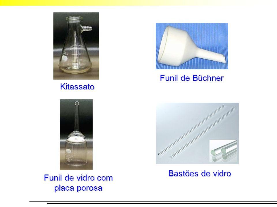 Bastões de vidro Kitassato Funil de Büchner Funil de vidro com placa porosa