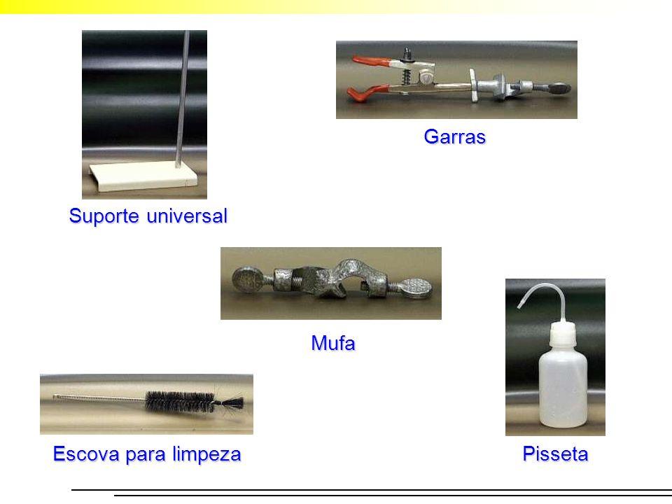 Garras Mufa Suporte universal Escova para limpeza Pisseta
